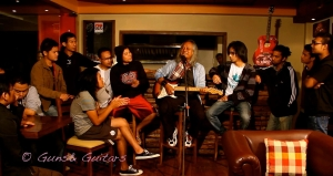 guns&guitars 1...Lou with members of different bands,Shillong